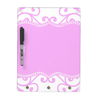 Majestic Pink Dry Erase Board