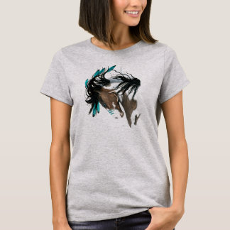 Majestic Pinto Feathers by Bihrle T-Shirt