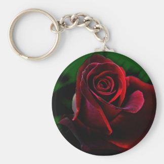 majestic rose key ring basic round button keychain