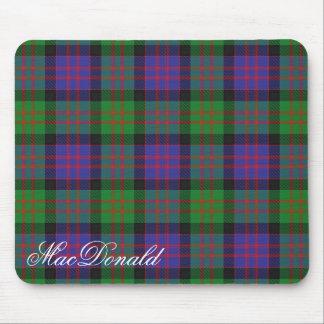 Majestic Scottish Clan MacDonald Tartan Mouse Pad