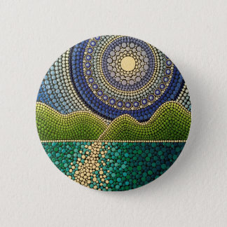 Majestic Sky 2 Inch Round Button