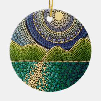 Majestic Sky Ceramic Ornament