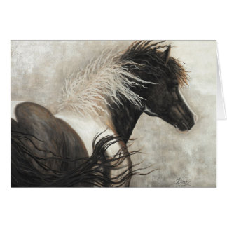 Majestic Stallion Pinto Horse by BiHrle Card