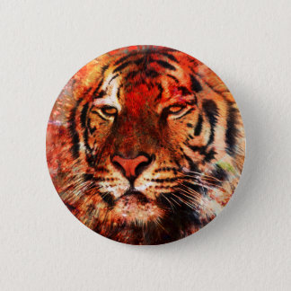 Majestic Tiger 2 Inch Round Button