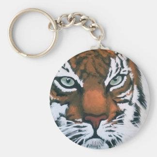 Majestic Tiger Basic Round Button Keychain