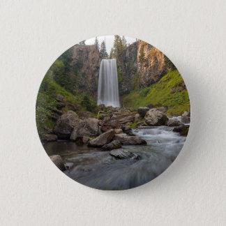 Majestic Tumalo Falls in Central Oregon USA 2 Inch Round Button
