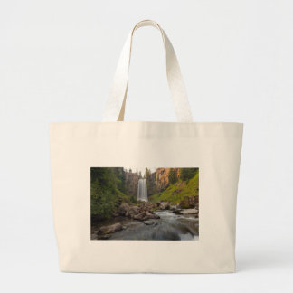 Majestic Tumalo Falls in Central Oregon USA Large Tote Bag