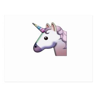 Majestic Unicorn Emoji Postcard
