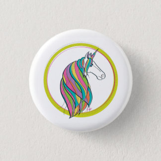 Majestic Unicorn Profile Pin