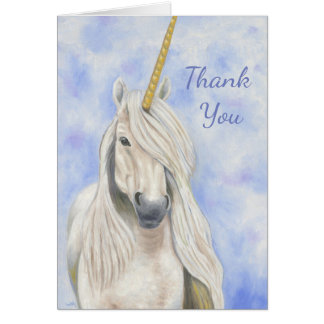 Majestic Unicorn thank you card