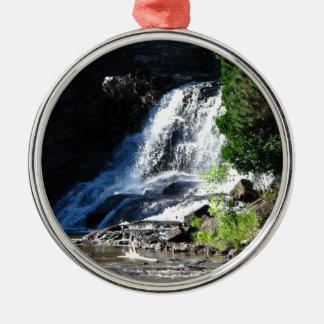 Majestic Waterfall at Gooseberry Falls – Nature Metal Ornament