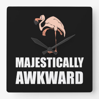 Majestically Awkward Flamingo Clocks