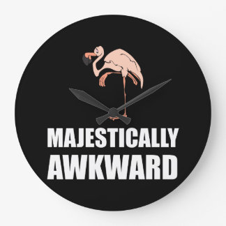 Majestically Awkward Flamingo Wallclocks