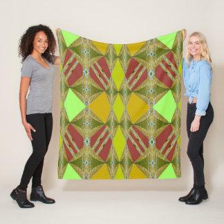 Majesty on Yellow/Gold/Green/Mint Green/Rose Fleece Blanket
