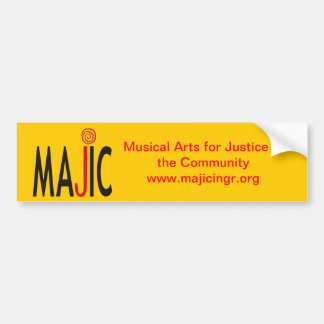MAJIC bumper sticker