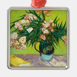 Majolica Jar Branches Oleander Vincent van Gogh Silver-Colored Square Ornament