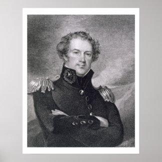 Major General Alexander Macomb (1782-1842), engrav Poster