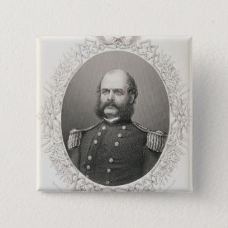 Major General Ambrose Everett Burnside 2 Inch Square Button