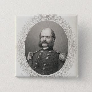 Major General Ambrose Everett Burnside 2 Inch Square Button