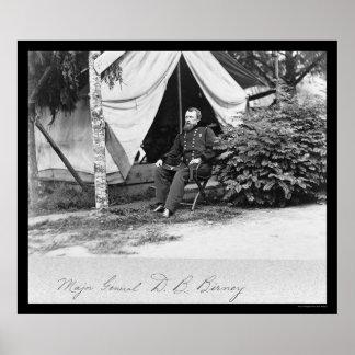 Major General D.B. Birney 1864 Poster