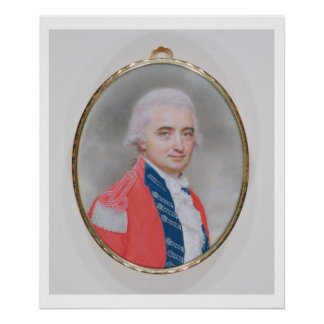 Major General Sir Barry Close (d.1813) 1794 (w/c a Poster