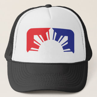 Major League Filipino Flag - Half Trucker Hat