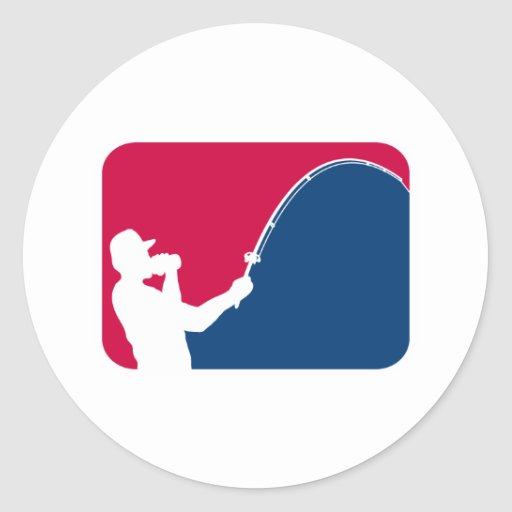 Major league fishing round sticker zazzle for Major league fishing shop