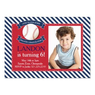 Major League Fun Baseball Birthday Invitation