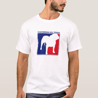 Major League Staffordshire Bull Terrier t-shirt