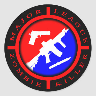 Major League Zombie Killer - weapons Classic Round Sticker