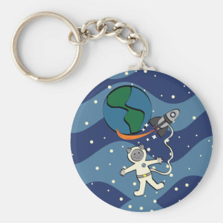 Major Tom Cat Keychain