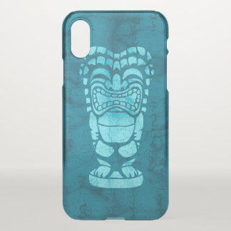 Makapuu Beach Hawaiian Laughing Tiki Batik Teal iPhone X Case