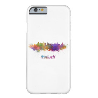 Makati skyline in watercolor barely there iPhone 6 case