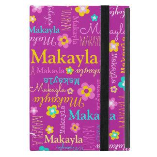 Makayla girls name flower pink aqua yellow case