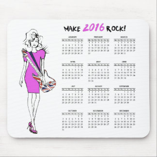 Make 2016 Rock! Mouse Pad