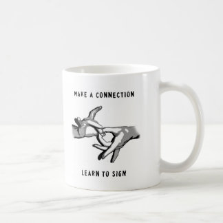 Make a connection Learn to Sign Mug
