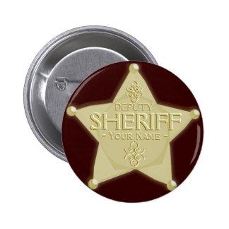 Make a Deputy Sheriff Badge Golden 2 Inch Round Button