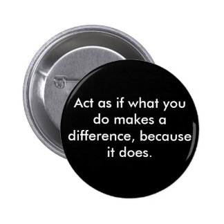 Make a difference. 2 inch round button