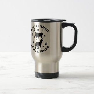 Make A Difference Adopt A Friend Travel Mug