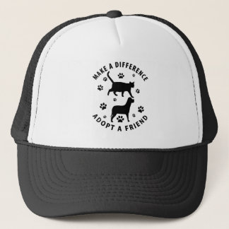 Make A Difference Adopt A Friend Trucker Hat