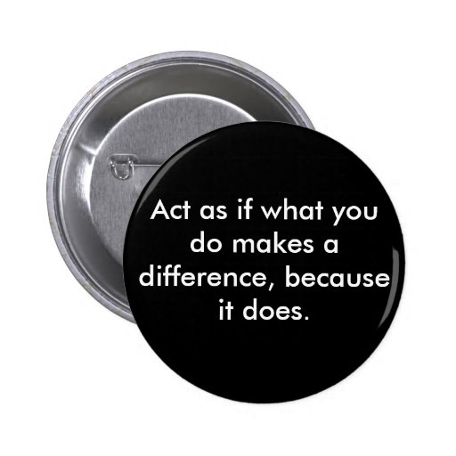 Make a difference. pinback button