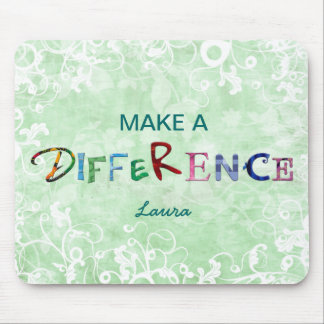 Make A Difference green mousepad