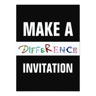 """Make a Difference Motivational Quote 5.5"""" X 7.5"""" Invitation Card"""