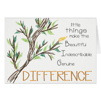 Make a Difference Thank You Card