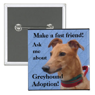 Make a fast friend! 2 inch square button