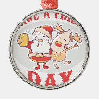 Make a Friend Day - Appreciation Day Metal Ornament