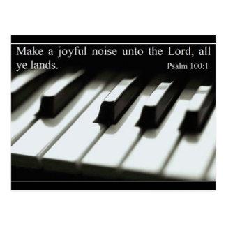Make a Joyful Noise - Postcard - Customized