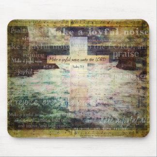 Make a joyful noise unto the LORD - Bible Verse Mouse Pad