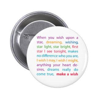 Make a Wish 2 Inch Round Button