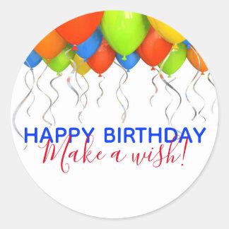 Make a Wish Big Birthday Stickers